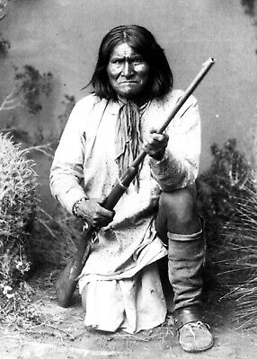 £4.89 • Buy Native American Geronimo Apache Warrior 1886 Print Poster Wall Art Picture A4 +
