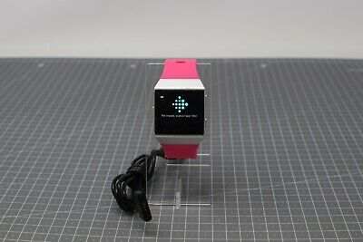 AU110.67 • Buy Fitbit Ionic Smart Watch - Silver Grey Pebble /Pink Strap - FIU192