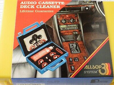£22 • Buy Allsop 3 Cassette Deck Tape Head Cleaner In Travel Case With Spare Pads DECO