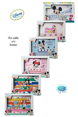 £23.08 • Buy Set Sheets Infants New Born Or Bed Disney With Minnie Or Mickey Mouse