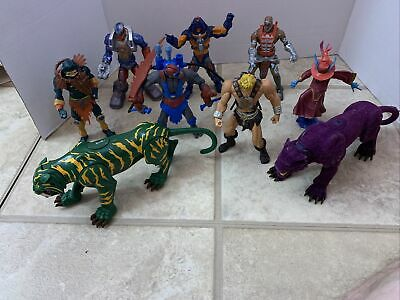 $120 • Buy Figure Lot Of 9 Masters Of The Universe 200x He-Man Battle Cat