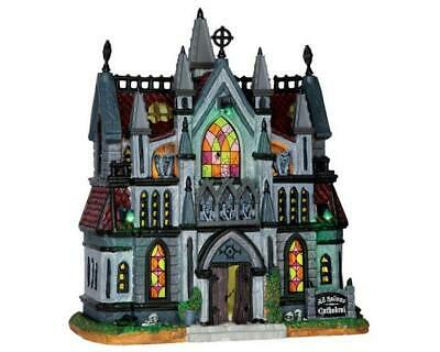 $ CDN127.47 • Buy Lemax Spooky Town ALL HALLOWS CATHEDRAL #65072 NRFB Lighted Halloween Village *