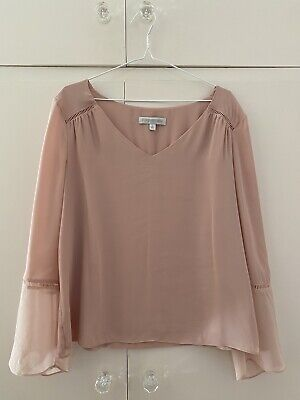 AU24.99 • Buy Forever New Womens Size L 14 Blush Blouse Top V-neck Polyester Long Sleeve