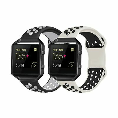 $ CDN26.59 • Buy 2 Pack Bands Compatible With Fitbit Blaze With Black Frame For Men Women, Sof...