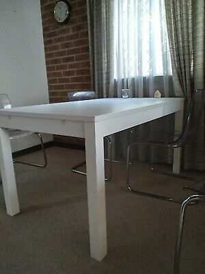 AU100 • Buy Dining Table, Extendable. Bjursta From IKEA. White 140 Cm - 180/220 Cm