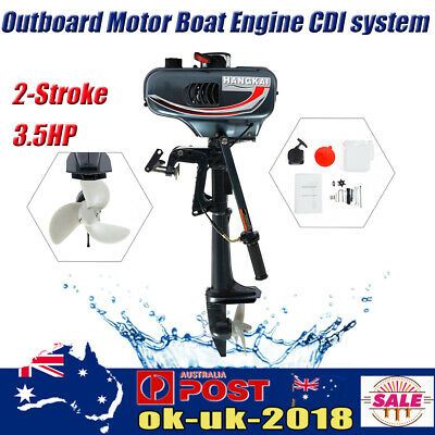 AU328 • Buy 3.5HP 2 Stroke Petrol Power Outboard Engine Motor Fishing Boat Water Cooling AU