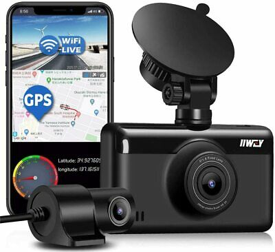 AU157.50 • Buy Dual Dash Cam 1440P & 1080P Built-in GPS & WiFi, Front And Rear Camera For Cars