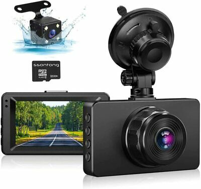 AU93.40 • Buy Dash Cam Front And Rear, Dash Camera For Cars 1080P Full HD Dual 3  IPS Screen
