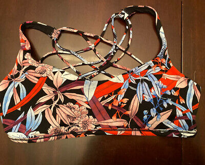 $ CDN44.99 • Buy Lululemon Free To Be Bra Wild Lush Lillies Multi Size 12 Strappy Hawaii Flowers