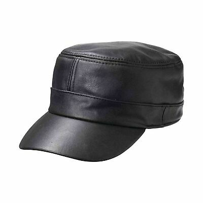 $ CDN29.01 • Buy Casual Outfitters Solid Genuine Lambskin Leather Cap