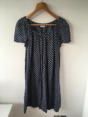 Brora 100% Organic Linen Tunic Dress - Size 10 To 14 Relaxed Fit Print  • 49.99£