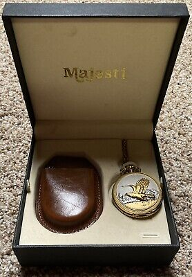 $39.95 • Buy New Majesti Flying Eagle Two Tone Gold And Silver Colored Pocket Watch W/ Case