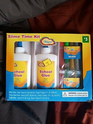 AU4.51 • Buy Slim Time Slime Kits Includes Glue And Glitter & Glitter Pens (NEW)