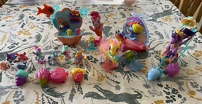 Bundle Of My Little Pony The Movie Undersea Sets - Seapony Figures Cafe Carriage • 20£