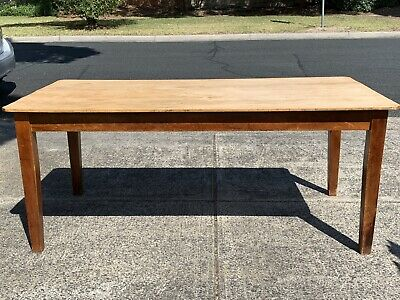 AU450 • Buy Antique Kauri Pine Rustic Kitchen  Dining Table