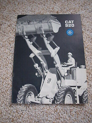 AU38.60 • Buy Caterpillar CAT 920 Front End Wheel Loader Tractor Brochure 12 Pg. Original '69