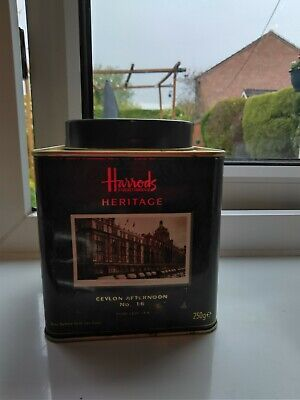 £4.50 • Buy Harrods Heritage Ceylon Afternoon Blend 16 Tea Caddy Tin (full)  Collectable GC
