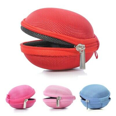 £2.11 • Buy Carrying Hard Case Bag For Earphone Headphone IPod MP3 Red P7K6