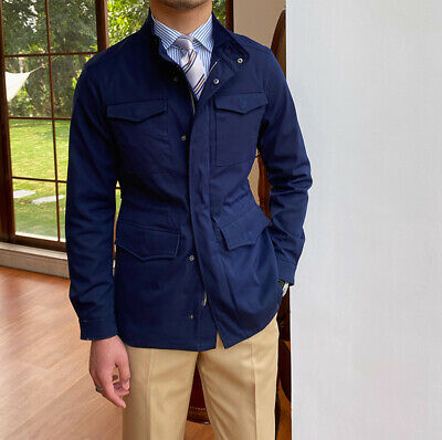 $89.27 • Buy M65 Safari Jacket Men's Stand-up Collar Casual Business Vintage Hunting Coats