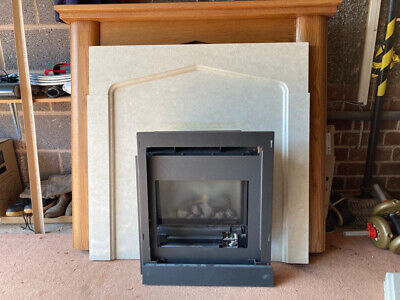 £175 • Buy Gazco Gas Fire With Marble Surround And Wood Mantle