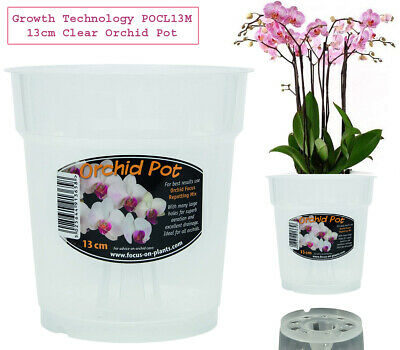 £2.49 • Buy Orchid FLOWER Pot Plant Clear GARDEN Plastic 12cm Clear FREE Post