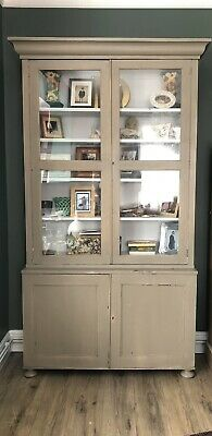 £400 • Buy Stunning Victorian Moulded Linen Press Cupboard Housekeepers Cabinet Armoire
