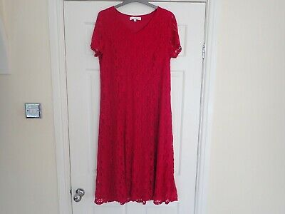 AU2.96 • Buy Women's Julipa Red Floral Pattern Dress Size 16 UK Sizes On Photos