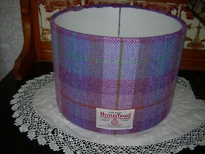 £39 • Buy Large Harris Tweed Drum Lampshade In Purple/mauve/lilac. 30 . Good Condition.