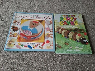 Set Of 2 Cake Decorating Books - Children's Party Cakes Step By Step • 2.50£