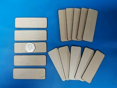 £3.99 • Buy 15x RECTANGLE Craft Blank Shape 9 X 3cm BIRCH PLY Wood Plaque Sign Pyrography