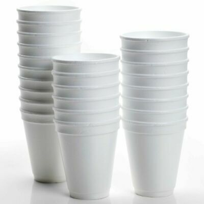 £12.49 • Buy 200 X Disposable Foam Cups Polystyrene Coffee Tea Cups For Hot Drinks 7-10oz