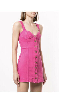 AU100 • Buy Alice Mccall Mystical Moments Pink Denim Dress Size 6 Brand New With Tags