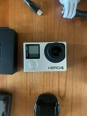 AU102.50 • Buy GoPro Hero 4 + Touchscreen, Accessories And 2x Batteries