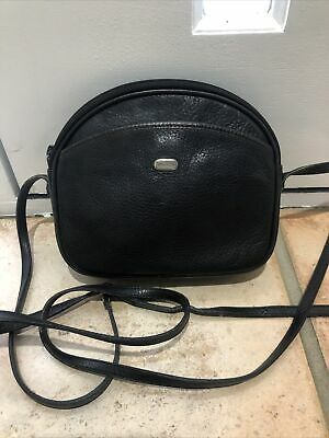 AU38 • Buy OROTON Black Small Leather Cross Body Bag / Handbag With Dust Bag EUC