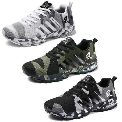 £17.99 • Buy Mens Running Trainers Shock Absorbing Walking Casual Lace Gym Sports Shoes Size
