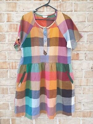 AU117.50 • Buy Gorman Check Dress Size 8 Fit Up To A 14 Generous