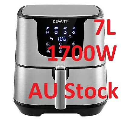 AU95.90 • Buy New Devanti Air Fryer 7L LCD Fryers Oil Free Oven Airfryer Kitchen Healthy Cook