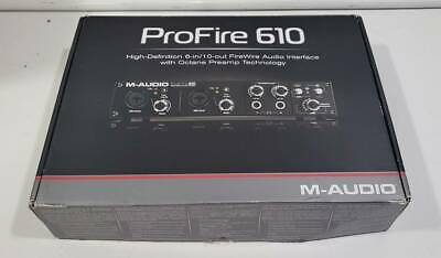 $137 • Buy M-Audio <ProFire 610> Firewire Audio Interface With BOX Cable Manual ✈FedEx✈