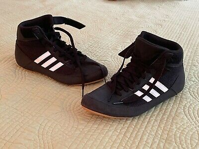 $ CDN42.31 • Buy Pre-owned  Adidas  Wrestling  Kids  Black  Shoes Size 6