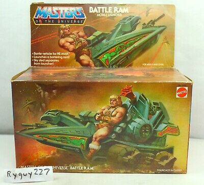 $225 • Buy MOTU, Battle Ram, Open Box, 8-Back, Masters Of The Universe, He-Man, Vintage