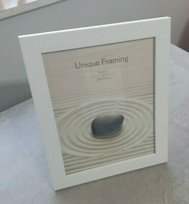 AU3.59 • Buy Wooden White Photo Frame 20 X25 Cm (8 X 10 ) - Free Standing Or Hanging