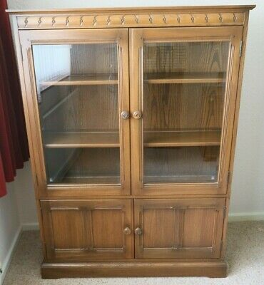 £149 • Buy Ercol Mural Glass Fronted Display Cabinet, Book Case Golden Dawn