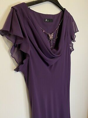 £12 • Buy British Home Store BHS - 14 - Purple Evening Occasion Dress Necklace - Vintage
