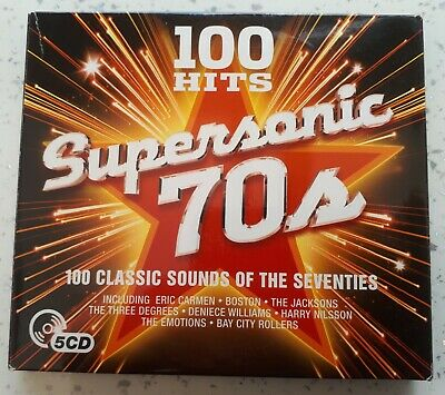 £5 • Buy 100 Hits ~ Supersonic 70's ~ 5 CD Box Set ~ Classic Sounds Of The Seventies