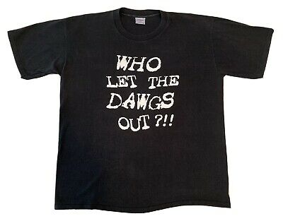 $15.99 • Buy Vintage Who Let The Dawgs Out T-Shirt All Sport Single Stitch Size XL NFL Browns