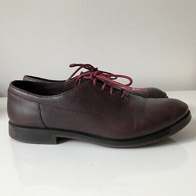 £20 • Buy Camper Woman's Soft Burgundy Leather Lace Up Shoes * EUR 39 UK 6