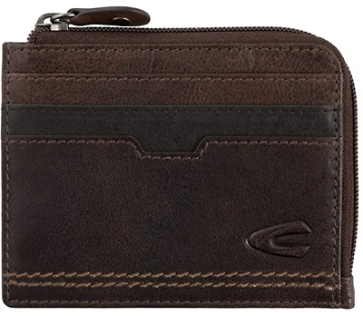 Camel Active Osaka Men's Small Leather Card / Coin Case - Brown  - New In Box • 24.95£
