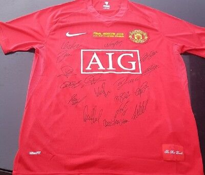AU175 • Buy Manchester United 2008 Champions League Winners Signed Jersey + Coa