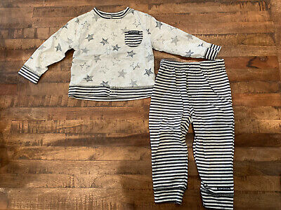 Calvin Klein Jeans Baby 2 Piece Stars & Stripes Outfit - Size 18M • 2.14£
