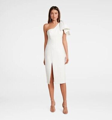 AU60 • Buy Forever New White Midi Dress Size 10 Small Medium (Worn Once)